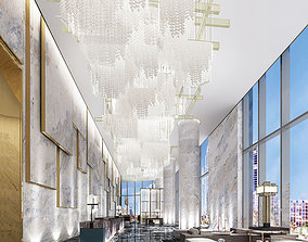 hall Hotel lobby 3d model