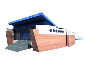 Hamad Aquatic Centre Aspire Doha Qatar 3D model