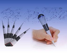 Children tumbler bamboo shoot plastic ballpoint pen 3D