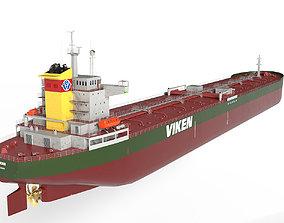 3D model low-poly Oil Tanker Panamax