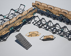 3D model sci-fi Structure Foundation- Collection