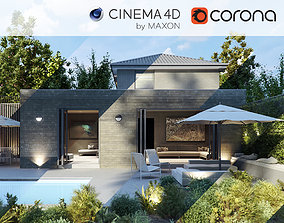 Corona - C4D Scene files - House Jackson Exterior 3D