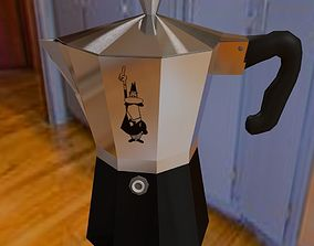 coffee maker 3D model low-poly