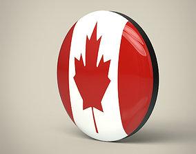 3D model Canada Badge