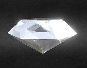 3D asset Game-Ready White Diamond Precious Gem