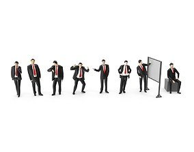 3D asset Low Poly Business People Pack 01