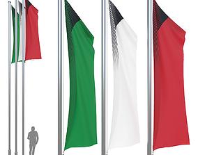 Flag set 1 3D model