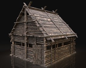 3D model AAA Next Gen Medieval Log Forest Wooden House 2