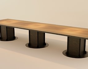 Big Table - Industrial 3D model PBR