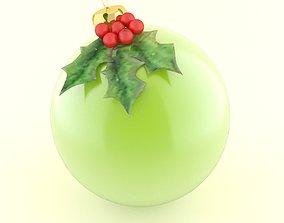 3D model christmas ball pine