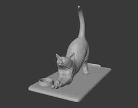 Cat phone holder 3D printable model