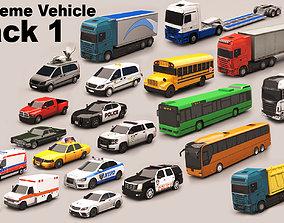 3D asset Vehicle Pack