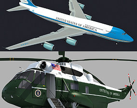 3D model Boeing Air Force One and Marine One