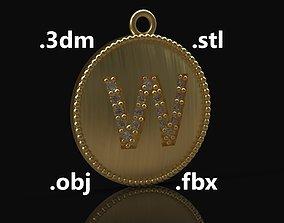 Model 190 Alphabets Necklace The Letter W Necklace