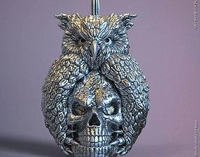 Skull and owl vol1 pendant 3D print model
