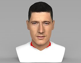 Robet Lewandowski World Cup 2018 bust for full color 3D 1