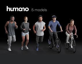 Humano 5-PACK - PEOPLE - SPORT JOGGING BIKING - 5x 2