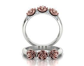 Flower Wedding Band Own design 3dmodel rose-design