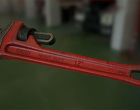Pipe wrench 3D model realtime