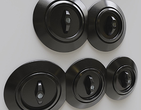 Set of switches and wall sockets 3D model