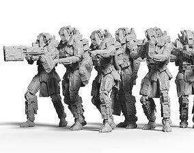 Sci Fi Battle Armor Miniatures - 3D printable model 4