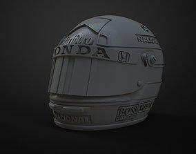 model Senna helmet 3d printable