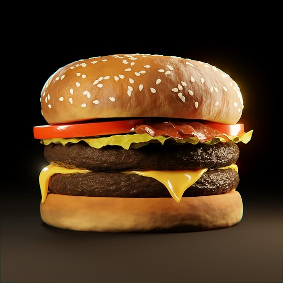 Free Hamburger 3D model