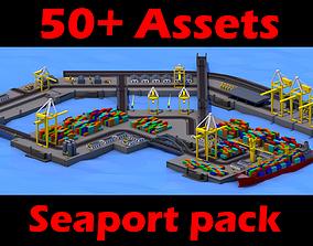Sea port gta sa style 3D asset
