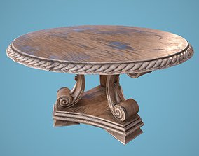 3D model realtime PBR Round Table