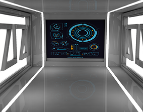 3D model low-poly Sci Fi Room