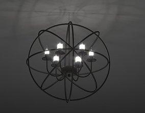 3D asset Modern Orbit Chandelier