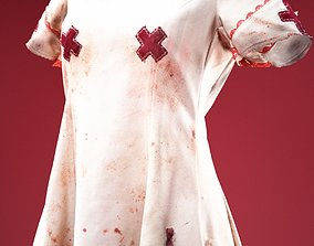 3D asset Horror Nurse Costume