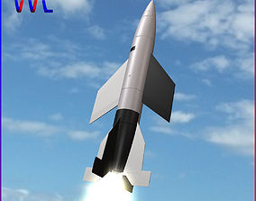 V-2 A-4B Ballitic Missile 3D model