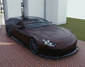 3D asset BLENDER EEVEE Brandless Sports GT shooting brake