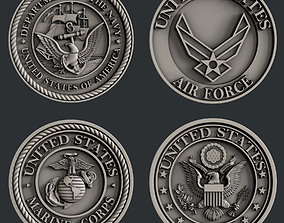 3d STL models for CNC router US Navy Marines Army and 1