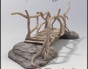 Bridge old wood 3D model