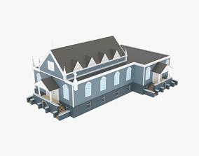 3D asset LowPoly Church 01