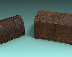 3D asset Antique Trunk