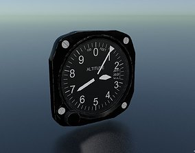 3D asset game-ready ALTIMETER GAUGE