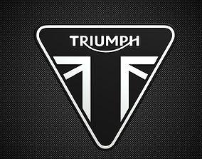Triumph Motorcycles logo 3D model