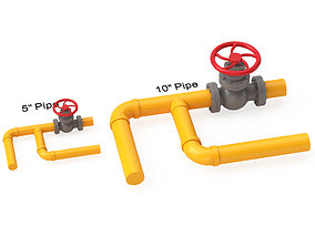 3D Valve With Gas Pipe