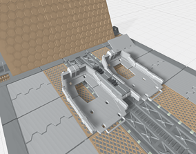 3D printable model -MHB03C- Mecha Hangar Bay 03 Launcher