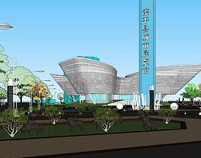 Luanping city exhibition hall 3D model
