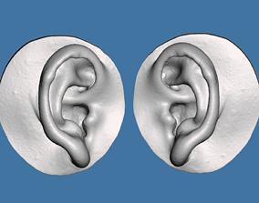 Natural human ear anatomy 10yrs boy 3D print model