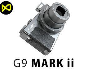 3D model Canon PowerShot G9X Mark II Black