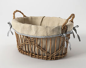 Basket with handles 3D