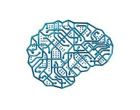 3D asset Electronic Circuit Brain v1 005