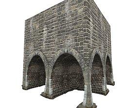 3D asset Gatehouse 01 Stone Vault 01