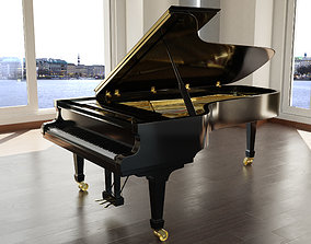 PBR Grand Piano 3d Model