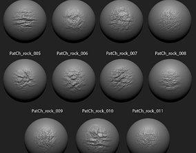 Zbrush Alpha Pack Rock Set2 for Free 3D